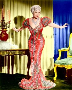 Mae West - I loved watching her movies when I was a kid, and even more as an adult--when I appreciated her inuendos...