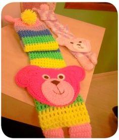 Cachecol Infantil Urso com gráfico