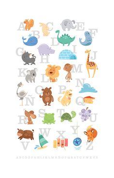 I adore sugar-cube-cute ABC posters! (ABD by porcelanita via Deviantart)