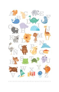 I adore sugar-cube-cute ABC posters! (ABD by porcelanita via Deviantart)