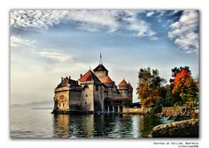 Chateau de Chillon, Montreaux, Switzerland.  International Ranger camp in the 1950s and then 2010 with Griff.