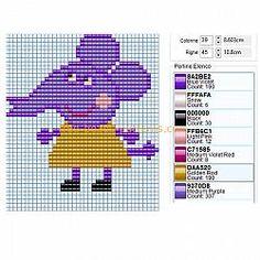 Emily Elephant Peppa Pig character free baby toy idea perler beads Hama Beads design