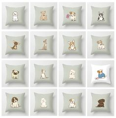 What Dog Breed Are You? Throw Pillow with Dog Illustration - Artist Promo Free Shipping!