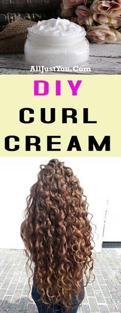 DIY CURL CREAM #diy #beauty #curl #hair #cream
