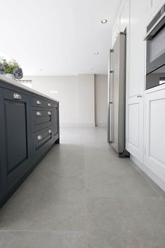 experts in import & retail of natural stone flooring. Browse our range of limestone tiles, porcelain and marble. Concrete Kitchen Floor, Grey Kitchen Floor, Grey Floor Tiles, Kitchen Flooring, Best Flooring, Grey Flooring, Stone Flooring, Floors, Flooring Options
