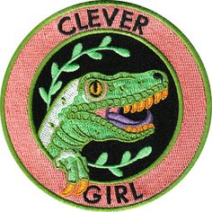 Clever Girl patch for Raptors and Humans. This is a Jurassic Park inspired 9 cm embroidered Dinosaur Patch with merrowed edge and iron-on backing....