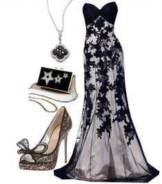 15 Polyvore Combinations for Graceful Ladies: Noble Lady.. Shown @ prettydesigns.com