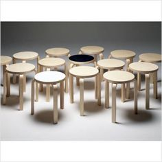 Wooden stools by Alvar Aalto