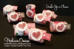 Stampin' Up! Stake Your Claim Valentine Treats by Melissa Davies @rubberfunatics #rubberfunatics #stampinup