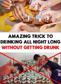 It is not recommended to get drunk, but if this happens, you need to know this amazing trick that will prevent this to happen again!