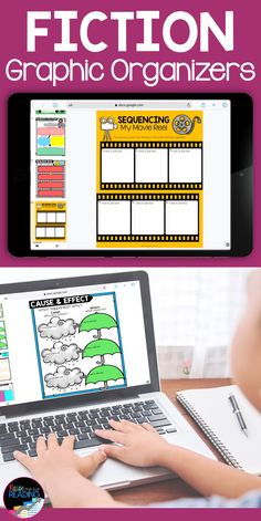 Fiction Graphic Organizers: Paper and Digital Bundle Reading Response Activities, Reading Resources, Teaching Reading, Guided Reading, Learning, Graphic Organizer For Reading, Graphic Organizers, Reading Posters, Writing Anchor Charts