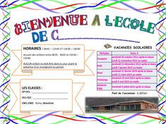 affiche infos Direction, Bullet Journal, Messages, Map, Info, French, Classroom Management, Welcome To School, School Holidays