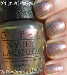 OPI - Kermit Me to Speak  - green gold purple