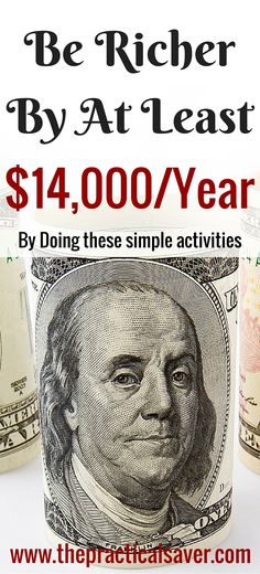 You can save more money and be richer by doing simple activities. These are activities that we tend to overlook but they eat up a lot of our money. The suggestions I will lay out here may (not) be applicable to you. These will save you a ton of money, in Ways To Save Money, Money Tips, Money Saving Tips, How To Make Money, Money Budget, Mo Money, Budget Plan, Financial Peace, Financial Tips