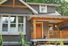 Lake Cottage - Bing Images Like the siding colors and the trim around the windows