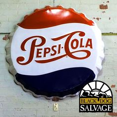 Sign, Pepsi Cola Bottle Cap from Black Dog Salvage
