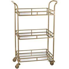 Ophelia Gold Bar Cart