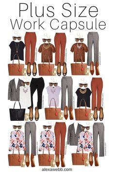 Plus Size Capsule Wardrobe, Fall Capsule Wardrobe, Capsule Outfits, Mode Outfits, Work Wardrobe, Business Casual Outfits For Work, Fall Outfits For Work, Casual Fall Outfits, Business Professional Outfits