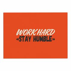 KESS InHouse Juan Paolo 'work Hard Stay Humble' Digital Vintage Dog Place Mat, 13' x 18' *** Special dog product just for you. See it now! : Dog food container