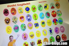 Genki English on one of the 800,000 tablets used in Thai public schools to teach English.