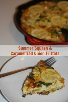 Summer Squash and Caramelized Onion Frittata