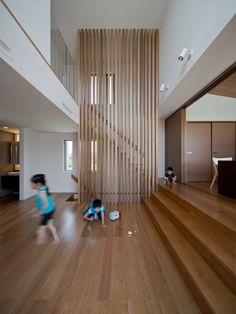 - House of Slow Life Staircase Design Modern, Home Stairs Design, Modern Stairs, Interior Stairs, Modern Architecture House, Modern Interior Design, Interior Design Living Room, Interior Architecture, House Staircase