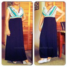 Black Striped Top Maternity/Nursing Maxi Dress  http://www.beautyisintheeyeoftheb.com/?p=4772