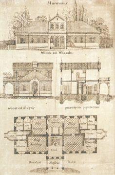 Projekt dworu murowanego autorstwa Bolesława Pawła Podczaszyńskiego, 1851 r.