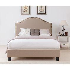 Boraam Beverley Upholstered Platform Bed   from hayneedle.com