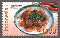 We Love Postage Stamps: Indonesian Traditional Foods