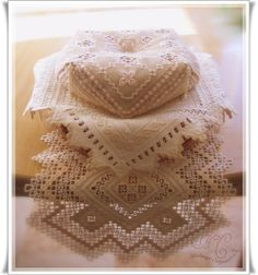 stunning hardanger embroidery
