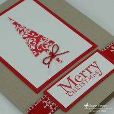 Patterned Pines - Christmas Card