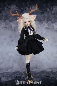 EVE Crescendo one of the special 40cm doll from DEAR MINE. She's a Pure white skin or White normal skin. #bjd #balljointed #deer doll #beautifuldoll #dolkstation #sale #40cmdoll