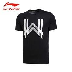Li-Ning Men's Wade Sports Training T-Shirts Li Ning Quick Dry Breathable Basketball Jerseys Flexible Tee AHSL283