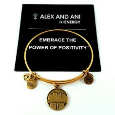 "RARE Alex & Ani ""New York Skyline"" Bangle RETIRED Alex and Ani ""Places We Love"" NYC Skyline Token Bangle in Russian Gold. New w/o tags. Retired, from 2009. Very sought after and HTF. Purchased at Alex and Ani store, 100% authentic. Any blemishes are the result of the normal manufacturing process and not a sign of wear or damage. Comes with care card and will be shipped in a box to prevent against damage during shipping. I ship items the very next day. Cross-posted on the bay of E. Alex & Ani…"