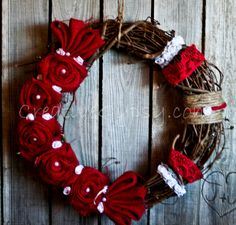 Be My Rustic Valentine Wreath.