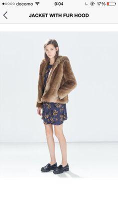 Zara 2014 Dress & Fur coat