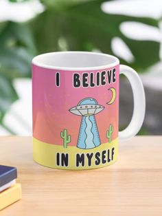 """I Believe In Myself - The Peach Fuzz"" Mug by elizabethhudy   Redbubble Tea Mugs, Coffee Mugs, Peach Fuzz, I Believe In Me, Custom Mugs, Bb, Coding, Ceramics, Tableware"