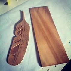 Working on some of these today Cedar shingle to Thunder Bird Feather #usewhatyougot #supernatural #feather #tree