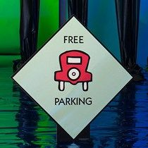 Our Monopoly Free Parking Standee features the iconic red card on the green board space. Monopoly Themed Parties, Monopoly Party, Monopoly Game, Monopoly Board, Game Themes, Party Themes, Game Night Decorations, Life Size Games, Homecoming Floats