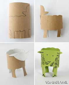 Where is the Green Sheep book and craft Toilet Roll Craft, Toilet Paper Roll Crafts, Summer Crafts, Craft Projects, Crafts For Kids, Easy Crafts, Toddler Activities, Activities For Kids, Rolled Paper Art