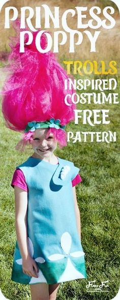 Sew a Troll Inspired Princess Poppy Costume - A Free Video Tutorial and PDF Pattern from FleeceFun - Sew, What's New?