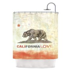 "Have to have it. Kess Inhouse iRuz33 ""Cali Love"" Shower Curtain - $129.99 @hayneedle"