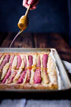 Rustic Rhubarb, Almond, and Honey Tart {Gluten-Free}