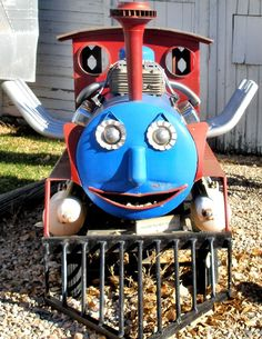 Thomas the Tank Engine never looked so surprised!