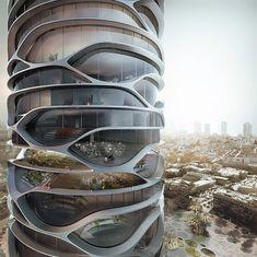 El edificio futurista Gran Meditteraneo   tendrá una  estética orgánica fluida