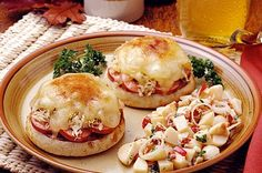 Oktoberfest Sandwiches English Muffin Brands, English Muffin Recipes, Bays English Muffins, Sandwich Melts, Sandwich Recipes, Sandwich Ideas, Food Wishes, Good Food, Yummy Food