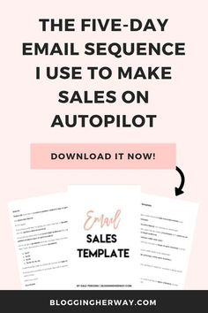 The EMAIL SALES TEMPLATE Convert your email subscribers into customers and make consistent sales on autopilot with this simple sales sequence. Email Marketing Design, Email Marketing Strategy, E-mail Marketing, Business Marketing, Content Marketing, Online Marketing, Business Tips, Mobile Marketing, Marketing Ideas