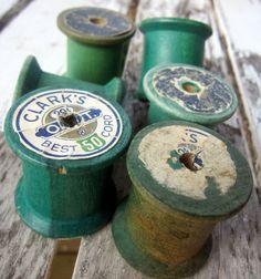 Old Wood Spools
