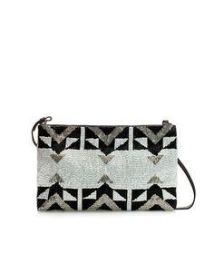 LEATHER BEADED CLUTCH - Handbags - Woman - ZARA Canada